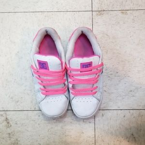 Women's DC shoes pink and white